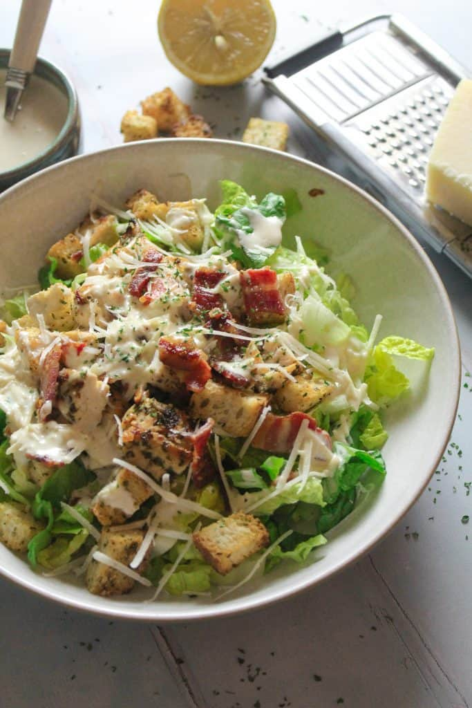 Chicken Caesar Salad with Easy Homemade dressing