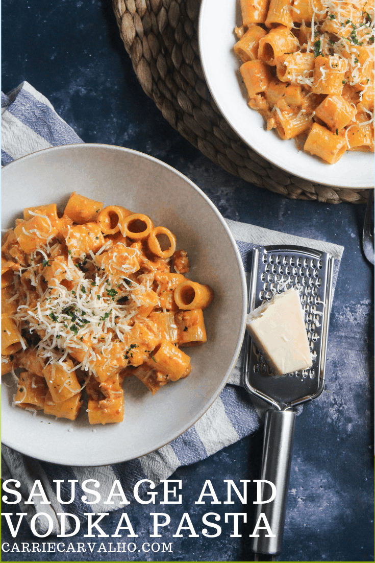 Vodka Pasta with Sausage - Perfect Date Night Dish