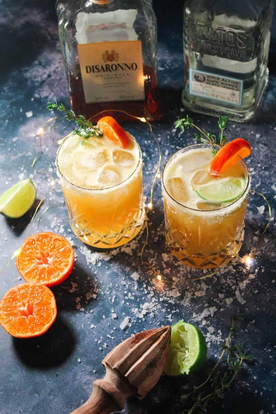 Amaretto Orange Margaritas - A Festive Cocktail