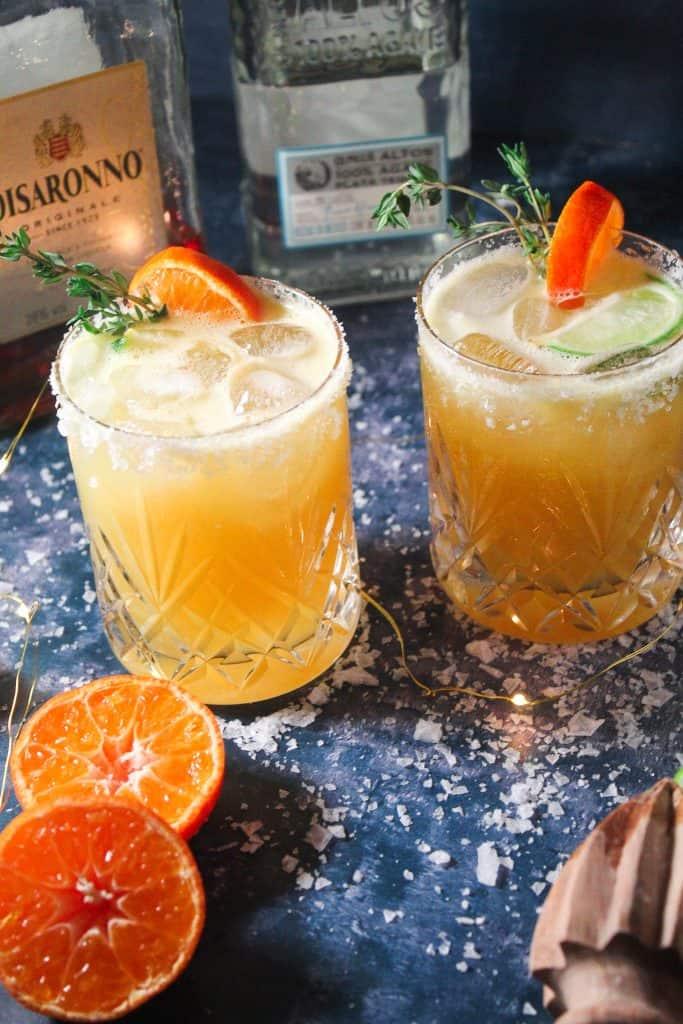 Festive Margaritas with Amaretto and orange