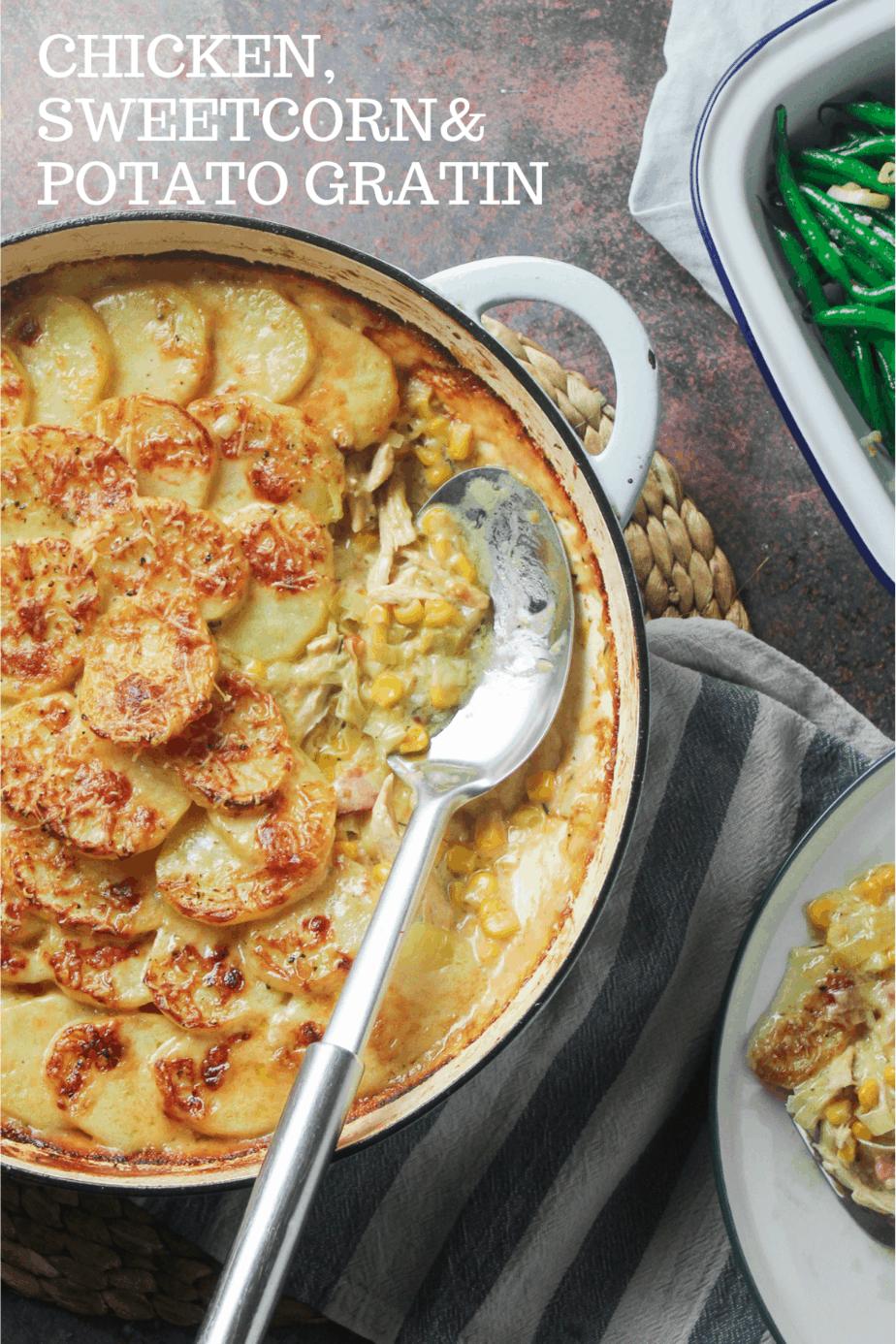 Chicken, Sweetcorn & Potato Gratin