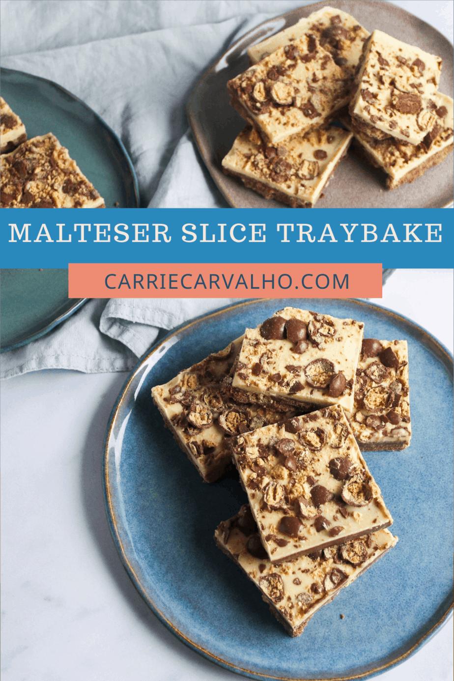 Malteser Slice Traybake - Easy No-Bake Treat