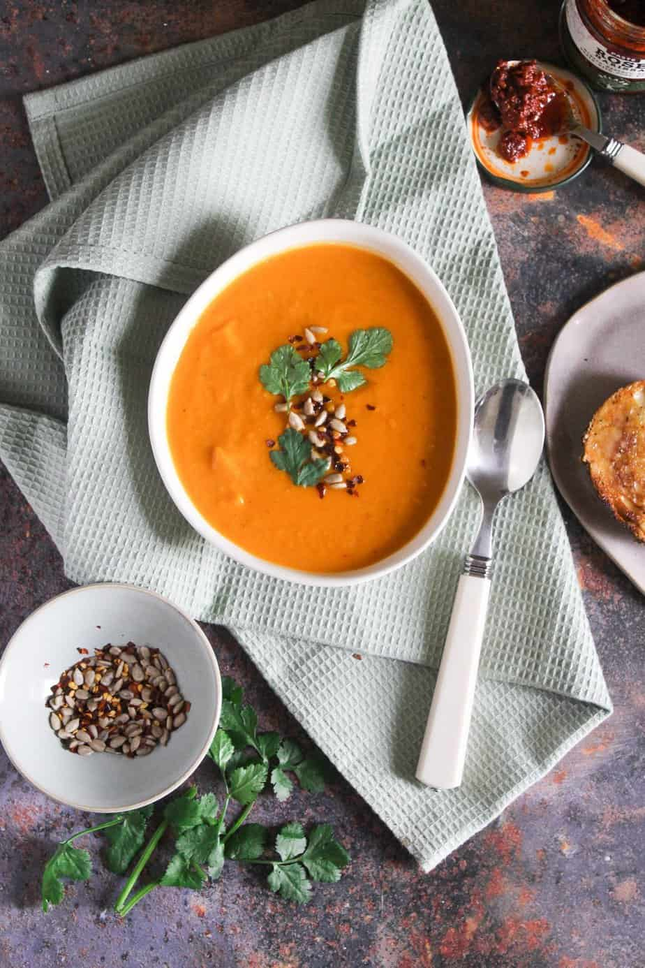 Roasted Butternut Squash and Harissa Soup