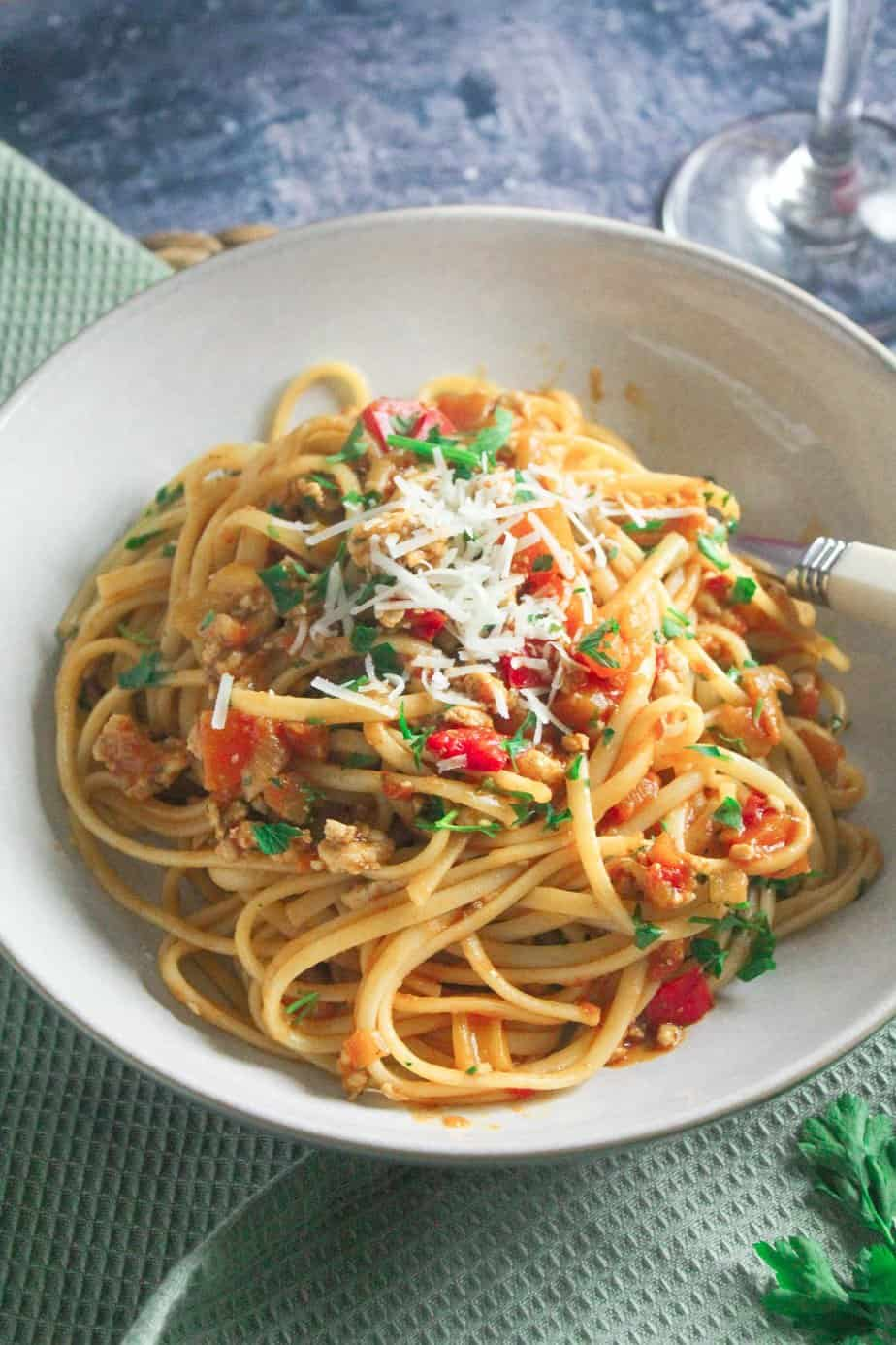 Easy Turkey Bolognese - Quick and Healthy