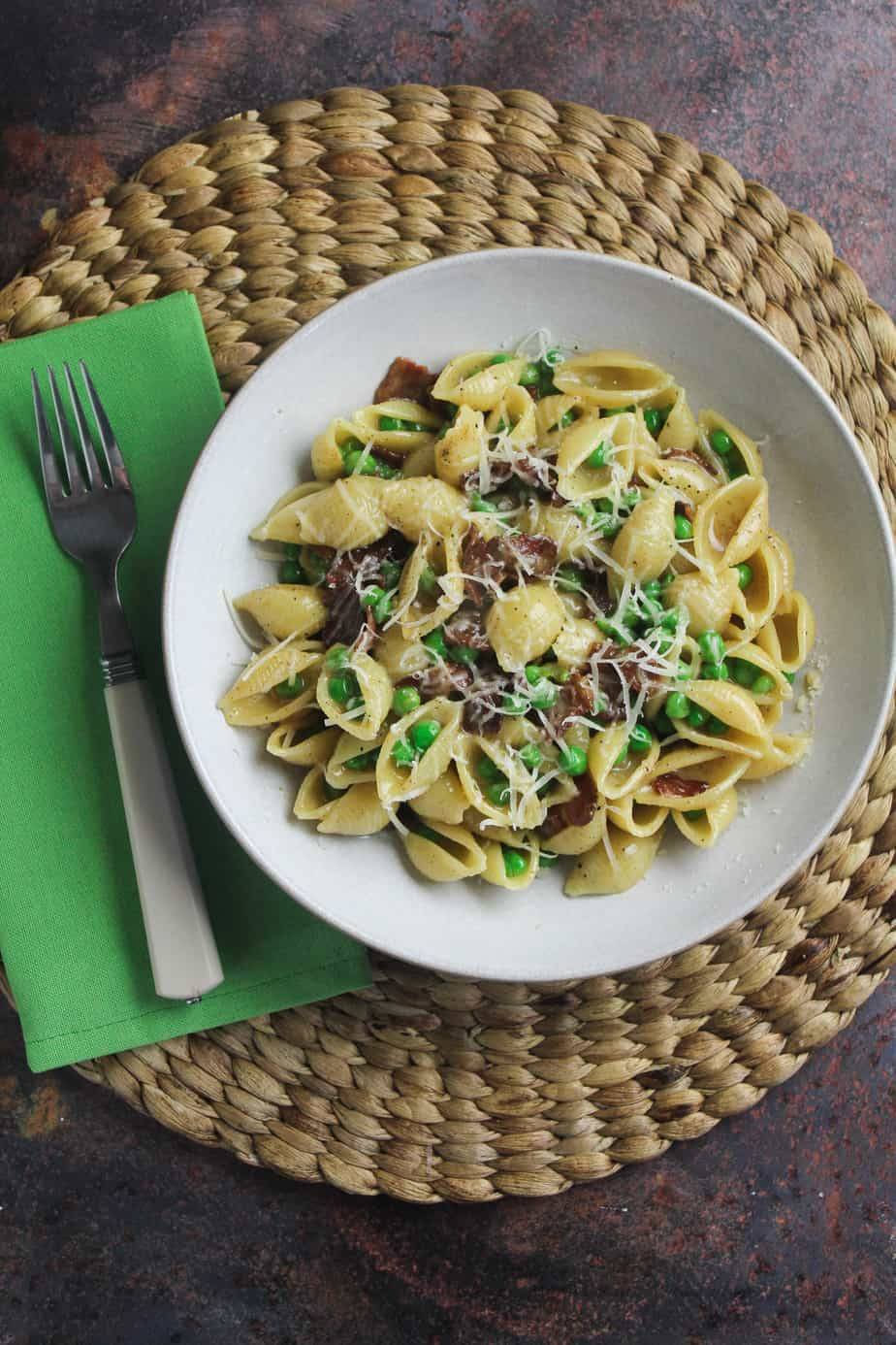 Bacon and Pea Pasta - Quick and Easy